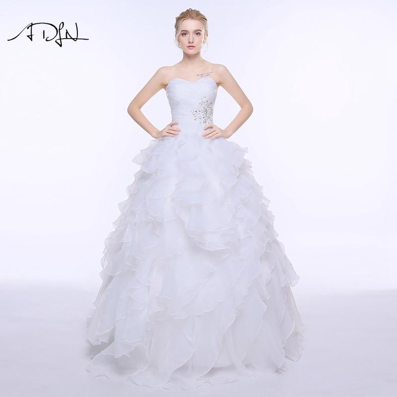 adln stock corset wedding dress 2017 vestidos de noiva a line whiteivory organza