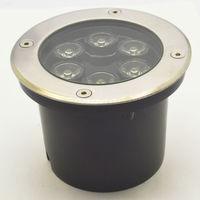 Gratis Verzending 6 w Led Ondergrondse Licht, licht Tuin Outdoor Verlichting Warm Wit/wit/rood/gree/blauw/rgb Ip68 Ac85 ~ 265 v 12 v 24 v