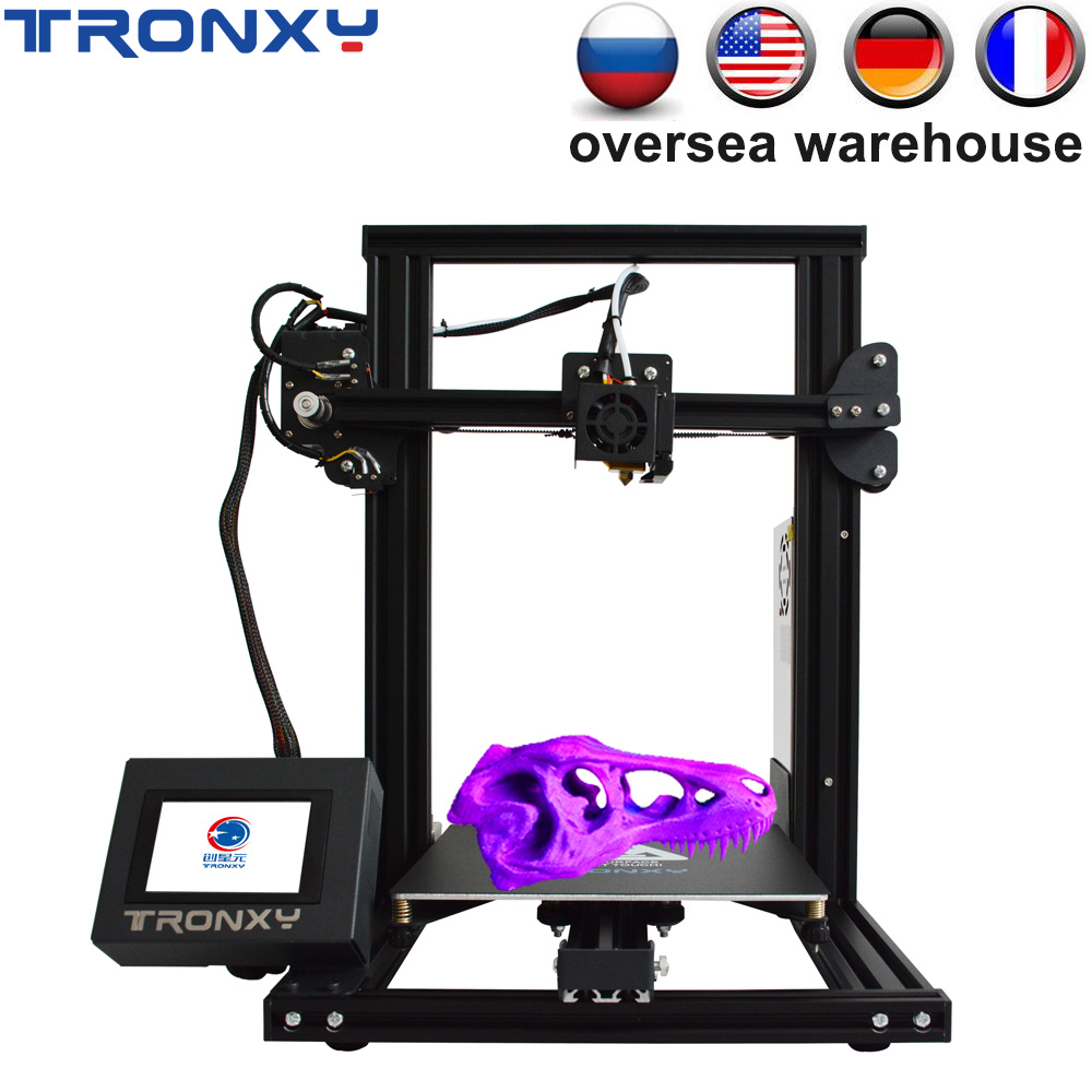 Tronxy New XY-2 3D printer Large Print Size FDM i3 printer V-slot Touch Screen Continuation Print Hotbed 1.75mm PLA image