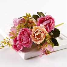 Fake Flowers Bouquet Artificial Peonies High Quality Silk For Wedding Fabric Rose decora o