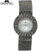 100 925 Sterling Silver Quartz Watch Lady Luxury Thail Silver Wristwatch Female Bracelet Watch Silver Watch