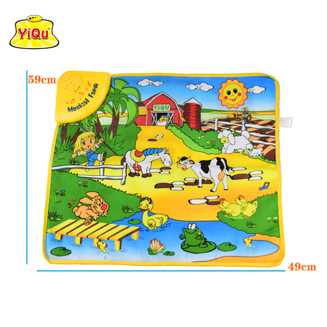 Baby Play Mat Music Farm Animal Sounds Educational Learning Baby Toy