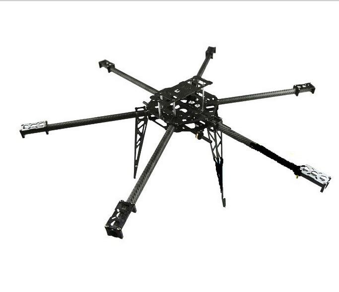T680 680mm Carbon Fiber Hexacopter Frame Kit for FPV KK MWC APM PIX DJI Compatible hj x330 black glass fiber 4 axis frame multiaxial rack 4 axis aircraft compatible for kk mwc red