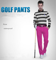 PGM Summer Mens Solid Colors Golf Pants Men Outdoor Sports Breathable Waterproof Comfortable Golf Trousers Men