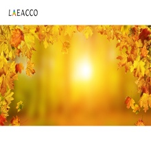 Laeacco Photographic Backgrounds Autumn Maple Yellow Light Bokeh Party Baby Scenic Photography Backdrops Photocall Photo Studio