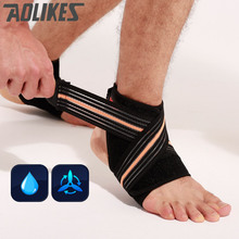 AOLIKES Adjustable Sport breathable Ankle Brace Protector Ankle Support Pad Protection Elastic Brace Guard Support Football