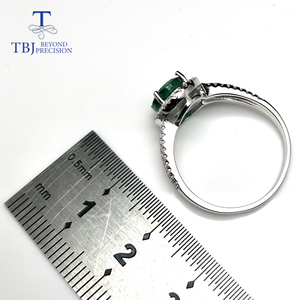 Image 4 - TBJ, 100% Emerald แหวน 925 เงินสเตอร์ลิงของขวัญกล่อง,elegant dianna แหวนมรกตธรรมชาติอัญมณีแหวน