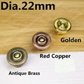 Dia. 22mm Antique brass color/Red copper/Golden color Zinc Alloy Kitchen Furniture knob antique bedroom drawer knob