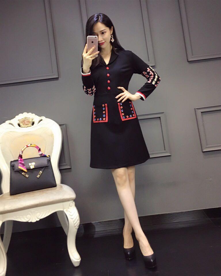Design Robe Partie Style Marque Printemps Femmes De Luxe Européenne D11646 Qualité Haute Mode 2019 Nouvelles Rq00SP