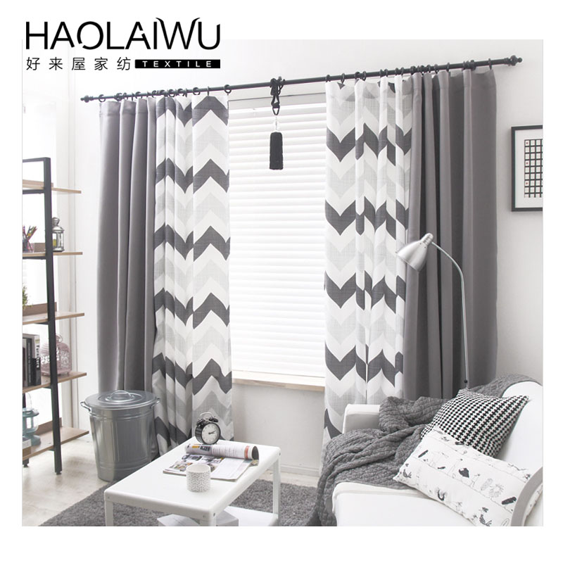 new modern european style geometric wave bedroom blackout curtains blind curtains for living room bedroom