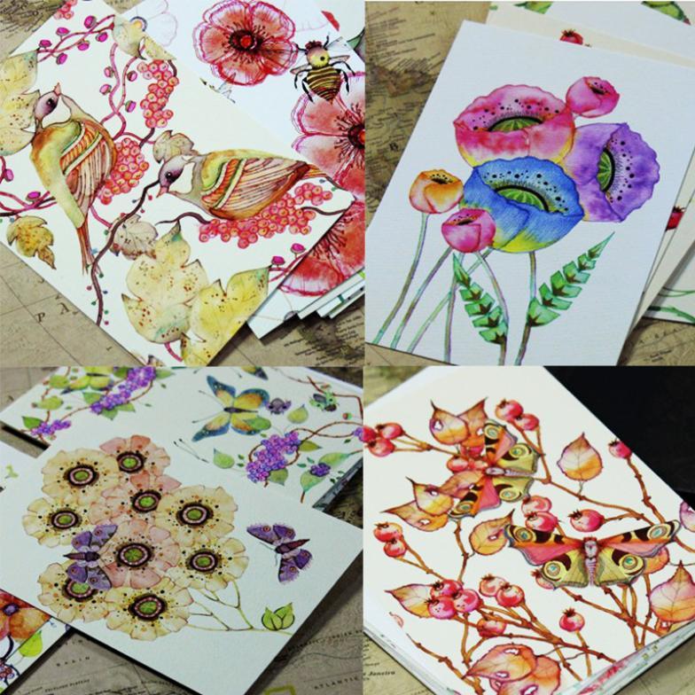 Как расписать открытку красиво