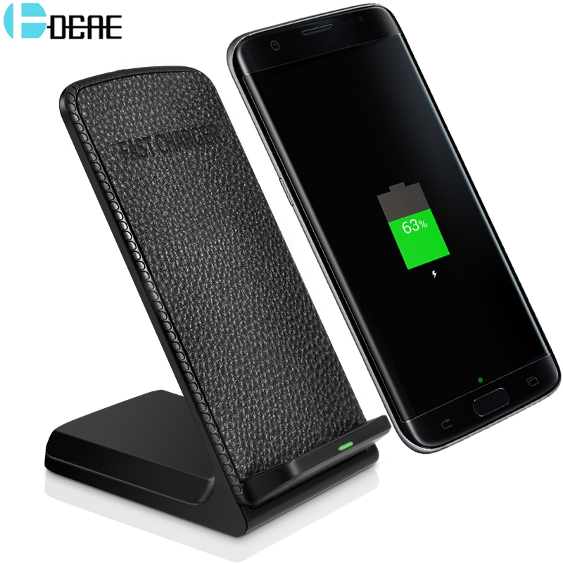 DCAE Qi Wireless Charger For iPhone 8 X Fast Wireless Charging Dock For Samsung Galaxy S9 S8 Plus Note 8 S7 Xiaomi USB Charger