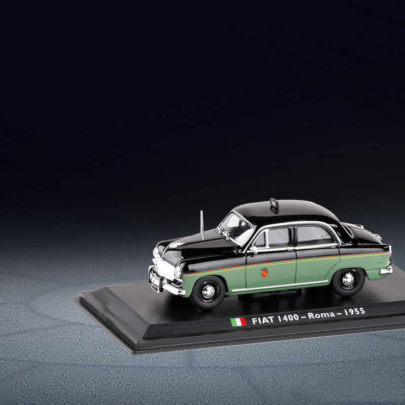 Original exquisite gift box <font><b>1</b></font>:<font><b>43</b></font> <font><b>FIAT</b></font> I400 Roma 1955 alloy <font><b>model</b></font>,simulation Italian taxi collection and decoration,free shipping image