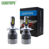 LEADTOPS 2Pcs Super Bright H4 Led Bulb 72W 8000Lm Car Led Headlight H1 H7 H8 H11