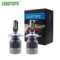 LEADTOPS 2Pcs Super Bright H4 Led Bulb 72W 8000Lm Car Led Headlight H1 H7 H8 H11