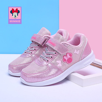 Disney children's shoes girls cute Minnie new autumn comfortable breathable fashion casual children's sports shoes size 31 37