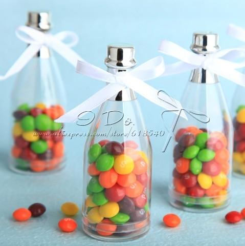 Free Shipping 12pcs Champagne Bottle Wedding Favor Boxes Candy Box Casamento