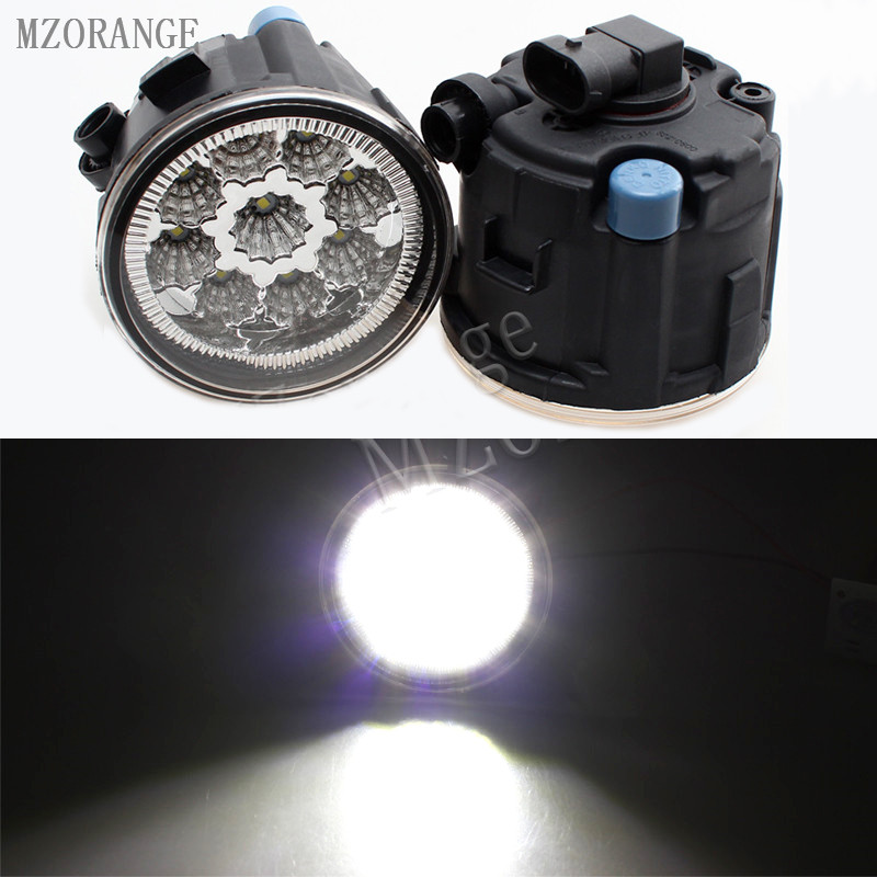 MZORANGE 9W 6000K White Led Fog Lights For NISSAN TIIDA SC11X CUBE Quest 2006-2012 Fog Light CCC E2 12V DRL Lamp 2PCS