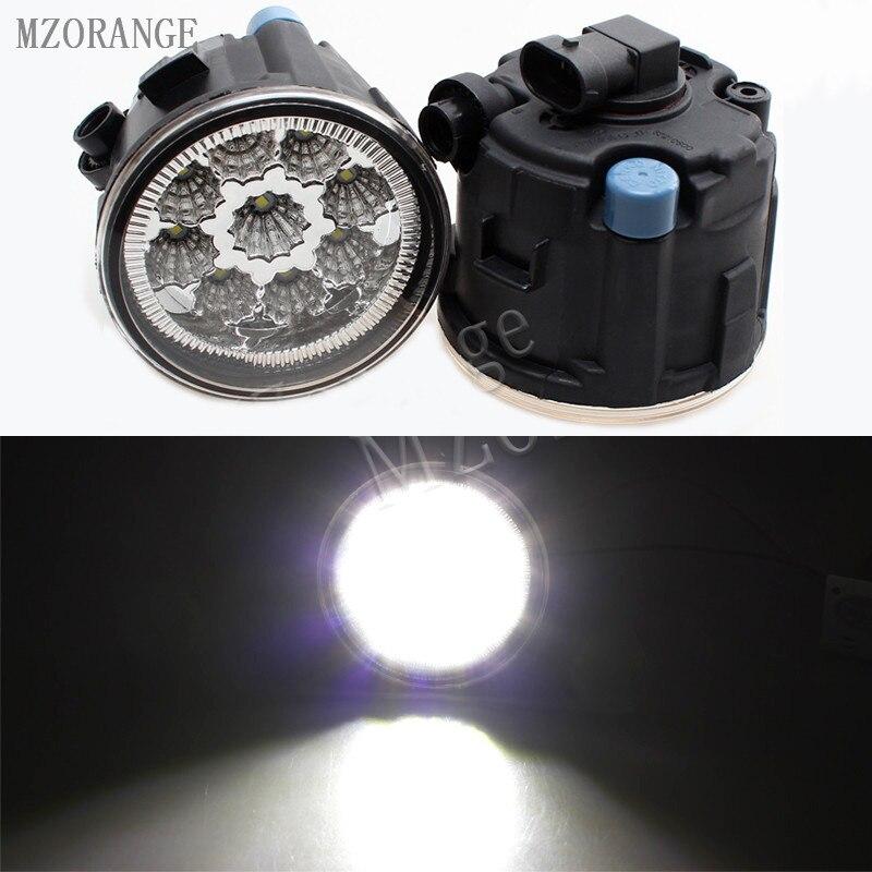 MZORANGE 9W 6000K White led fog lights For NISSAN TIIDA SC11X CUBE Quest 2006-2012 fog light CCC E2 12V DRL lamp 2PCS for nissan tiida saloon sc11x 2006 2012 car styling fog lights halogen lamps 1set 26150 8990b