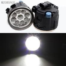 MZORANGE 9 Вт 6000 К белый светодио дный Противотуманные фары для NISSAN TIIDA SC11X cube Quest 2006-2012 туман свет CCC E2 12 В DRL лампы 2 шт.