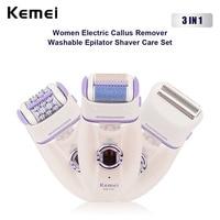 KEMEI 3-IN-1  Electric Callus Remover Lady Shaver Epilator Hair Removal Women Bikini Leg Underarm Armpit Depilatory Depilation35