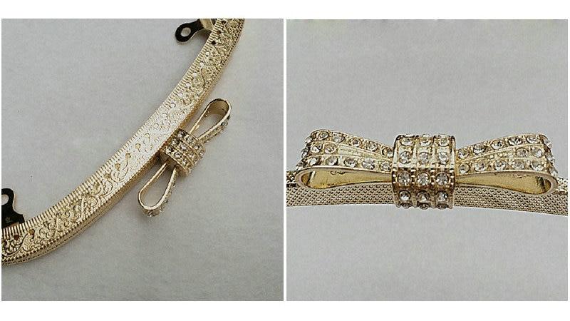 10pcs 18.5cm Kiss Clasp Lock for Women Clutch Handbag Metal Purse Frame Handle DIY Clasp Hardware Embossed Bag Accessories (1)