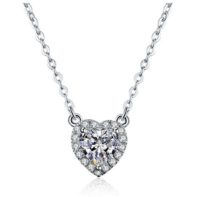 Wholesale pendant sterling silver 2ct synthetic heart diamonds wholesale pendant sterling silver 2ct synthetic heart diamonds pendant solitaire anniversary necklace 16inches necklace s925 aloadofball Gallery