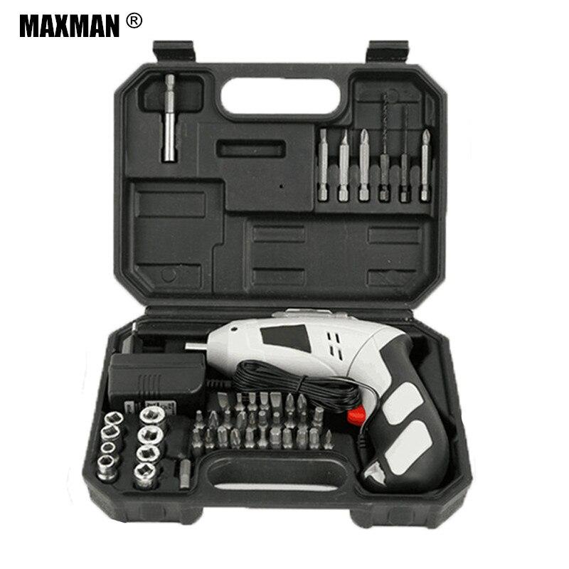 MAXMAN Perceuse sans fil 4.8 v DC Batterie Électrique Tournevis Rechargeable Ménage BRICOLAGE Multifonction Dremel Électrique Outils