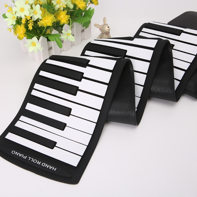 Portable 88 clavier à touches Piano Silicone Flexible Roll Up clavier pliable avec Sustain Pédale 110 V-220 V US Plug