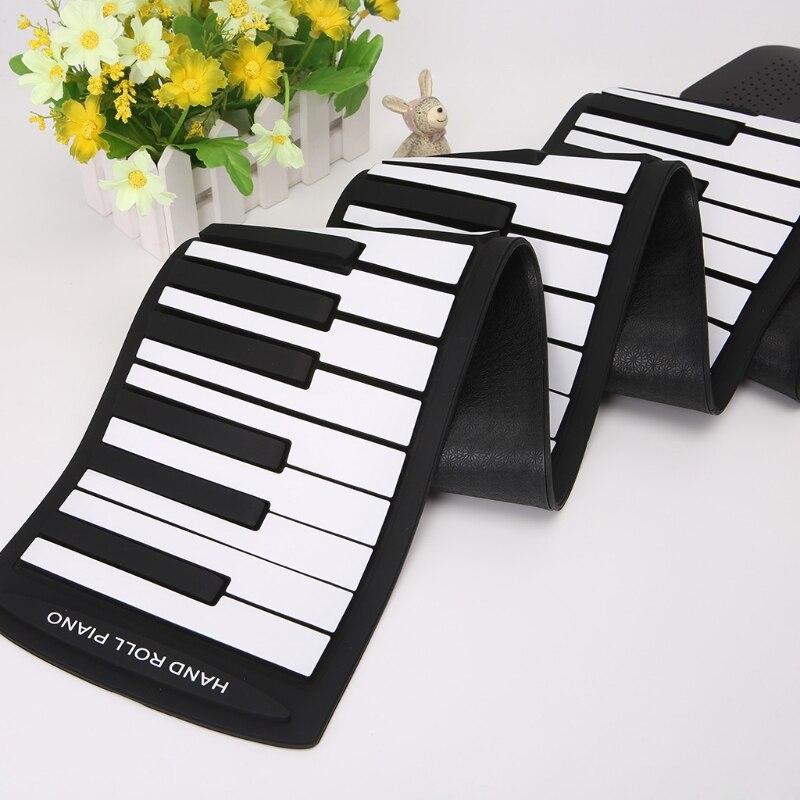 Portable 88 clavier à touches Piano Silicone Flexible Roll Up clavier pliable avec Sustain Pédale 110 V-220 V US Plug