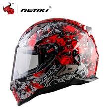 NENKI Männer Und Frauen Motorrad-helm Motocross Helm Motorrad Integralhelm Ece-zertifizierung Moto Helm Blau