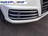 For Audi Q7 SQ7 S-Line Sport 16-17 front fog lamp light cover bar trim moulding
