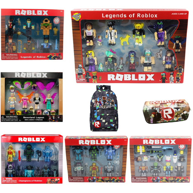 4/6/9pcs Roblox Characters Figure 7/7.5cm PVC Game Figma Oyuncak Action Figuras Toys Boy Backpack  Children Party Birthday Gifts