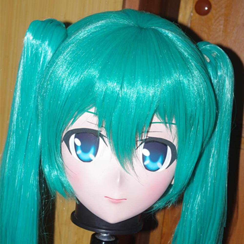Full Head Female Face Anime Mask Cosplay Kigurumi Zentai Suit Crossdresser Kigurumi Masks Skin Halloween Fetish