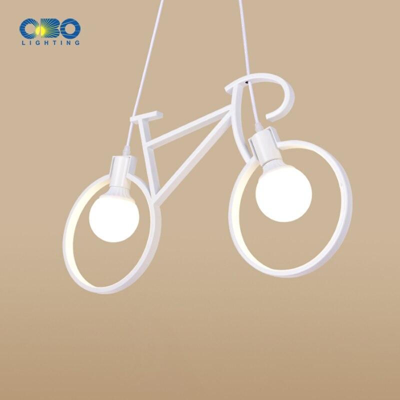 Nordic Modern Iron Bicycle Chandelier Retro Cafe   Creative Children's Room Bedroom Personality Pendant Lamp Indoor lighting