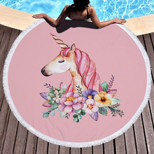 Large Round Beach Towel Unicorn Toalla Microfibra Terry Towels Toallas De Playa Para Adultos Serviette De Plage Ronde jason potash arte henne livro de colorir para adultos
