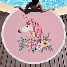 ФОТО large round beach towel unicorn toalla microfibra terry towels toallas de playa para adultos serviette de plage ronde