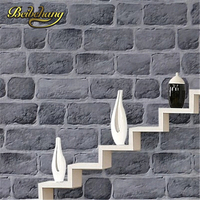 Papel De Parede Chinese Style Grey 3D Effect Background Wall Paper PVC Brick Wall Wallpaper Backdrop