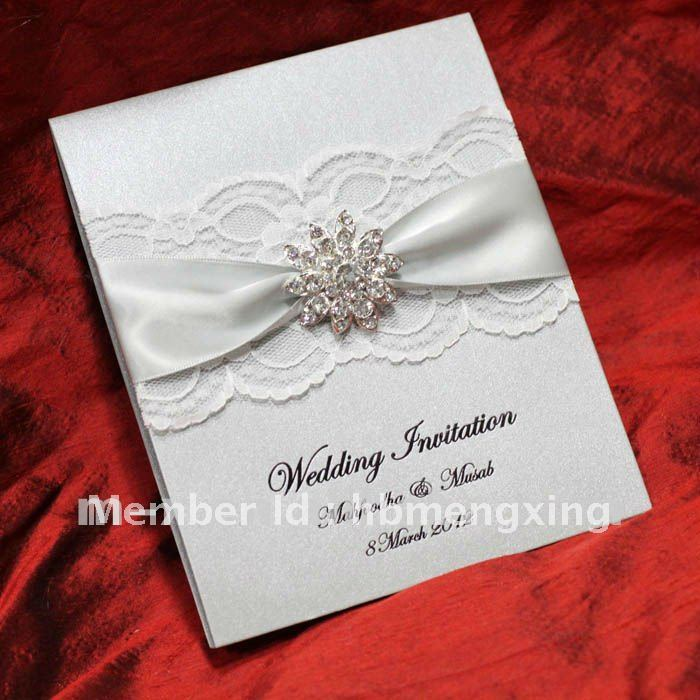 Silver Lace Wedding Invitation Card Ea119 On Aliexpress