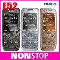 Abierto original nokia e52 teléfono móvil de bluetooth wifi gps 3g del teléfono celular del teclado ruso reformado en stock