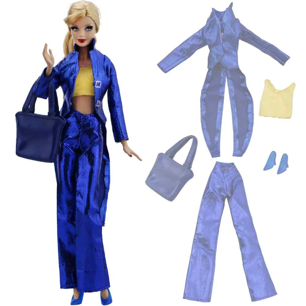 ... Fashion Lady Outfit Dinner Party Wear Blue Red Tuxedo Coat Tops  Trousers Handbags High Heels Shoes ... 4e2920a97dc7