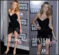 Gossip Girl  Blake Lively Dress Straight Sexy Black Lace Sweetheart Neckline Sleeveless Short Celebrity Dresses