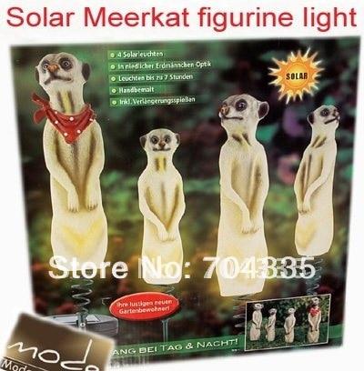 ФОТО NEW Solar Resin mongoose  Figurine Garden Yard Decor Stake Light/Set of 4