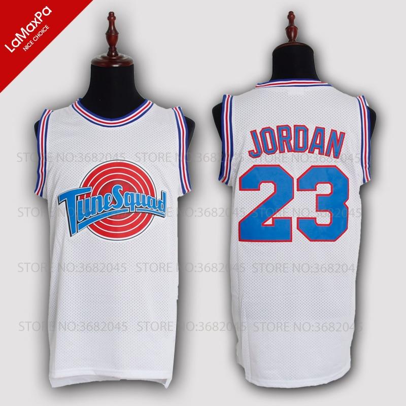 JORDAN Basketball Jersey 23# BUGS#1 DUCK#2 LOLA#10 MURRAY#22 TAZ Space Jam TuneSquad Bas ...