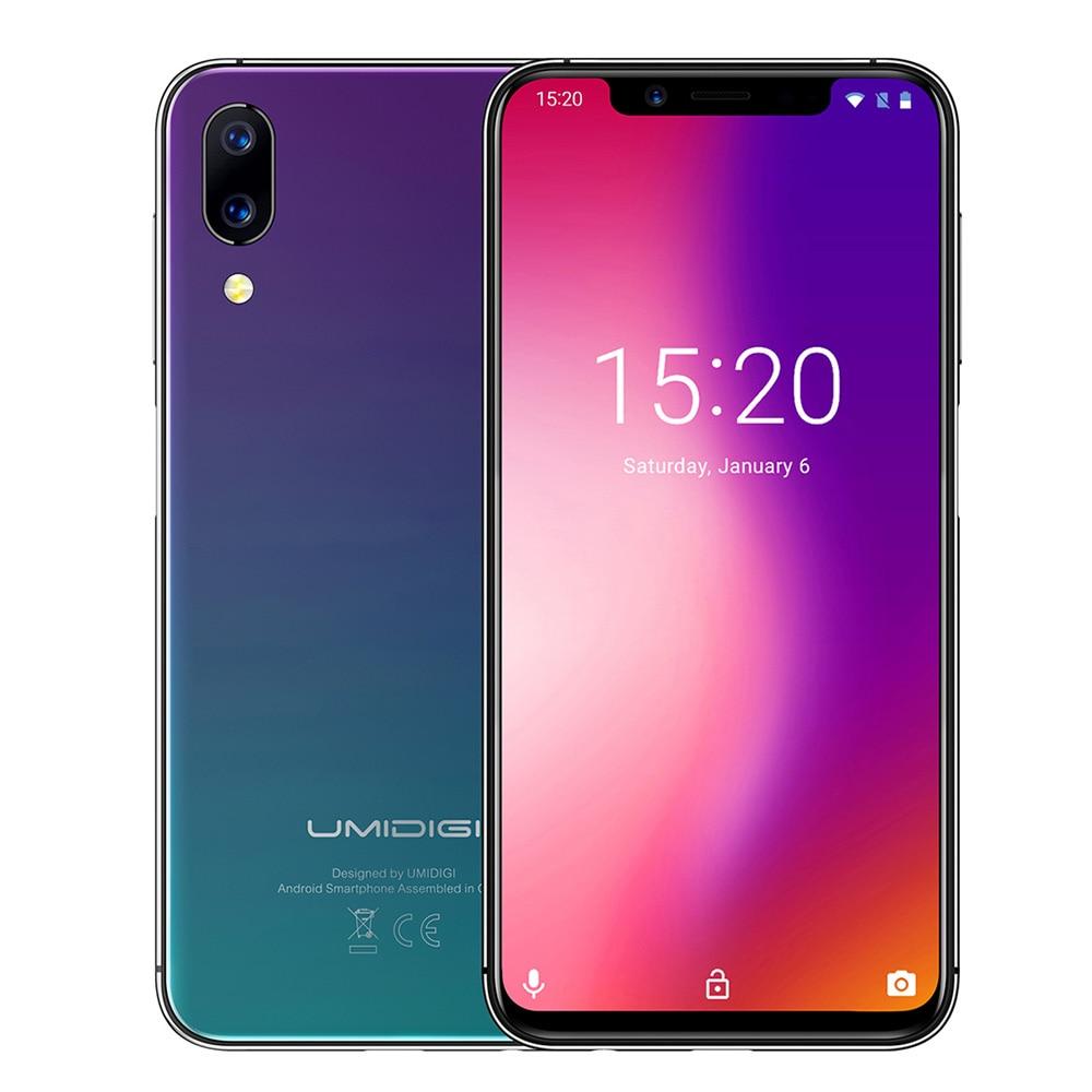 UMIDIGI One Pro смартфон 4G 4G B Оперативная память 6 4G B Встроенная память 5,86 дюймов Phablet ОС Android 8,1 MTK6763 Octa Core 2,0 GHz 3250 mAh мобильного телефона