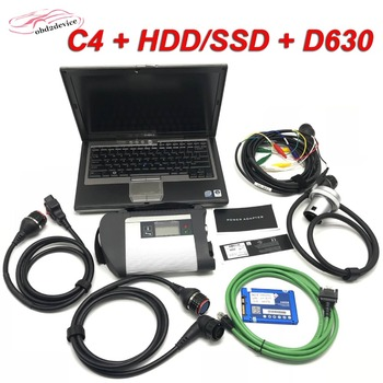 2020 MB star C4 scanner 2019/12 full MB Software system install in D630PC already to use MB STAR C4 car scanner online programer