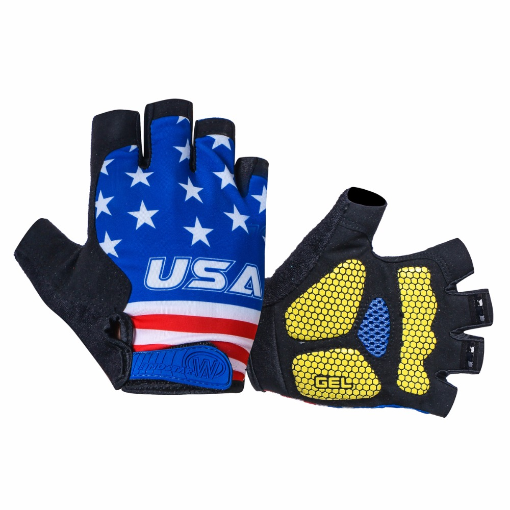 Unisex Real Leather Cycling Gloves Padded Palm Classic Vintage Style Cycle Glove
