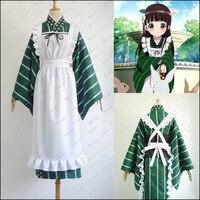 Anime Is The Order A Rabbit Cosplay Costumes Apron Dress Cute Chiya Ujimatsu Cos Kimono Lovely