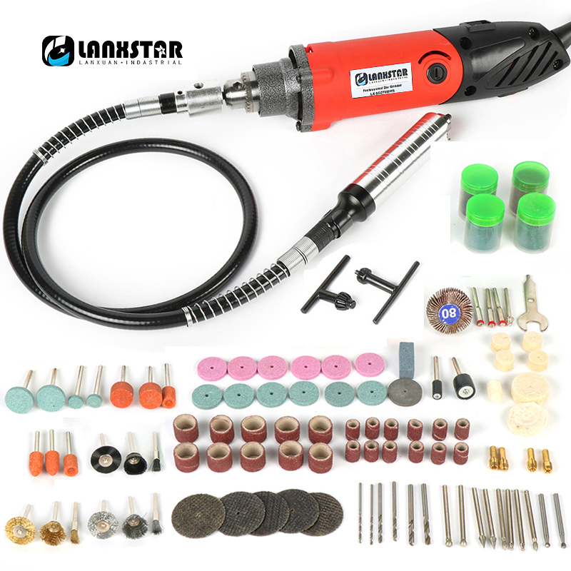 Updated 7500WS Electric Die Grinder 0.6~6.5mm Multifunction Chuck 6 Steps Variable Speed Flexible Shaf Convert Hanging Mill
