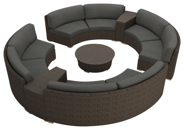 ... 2017 rattan furniture outdoor 7 piece round sectional sofa set china mainland ...  sc 1 st  Helen Mirren : round sectional sofa - Sectionals, Sofas & Couches